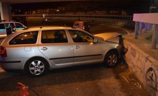 Dopravná nehoda v Bratislave 2.11.2017 na zjazde z mosta SNP