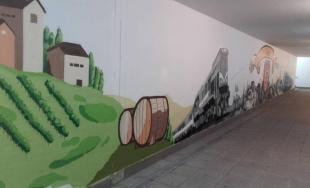 Graffiti v podchode železničnej stanice Bratislava Rača